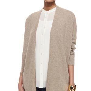 Eileen Fisher 100% Cotton Tan Open Cardigan Sz L